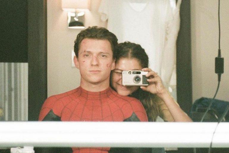 Tom Holland celebró el cumpleaños de Zendaya con una foto BTS de Spider-Man
