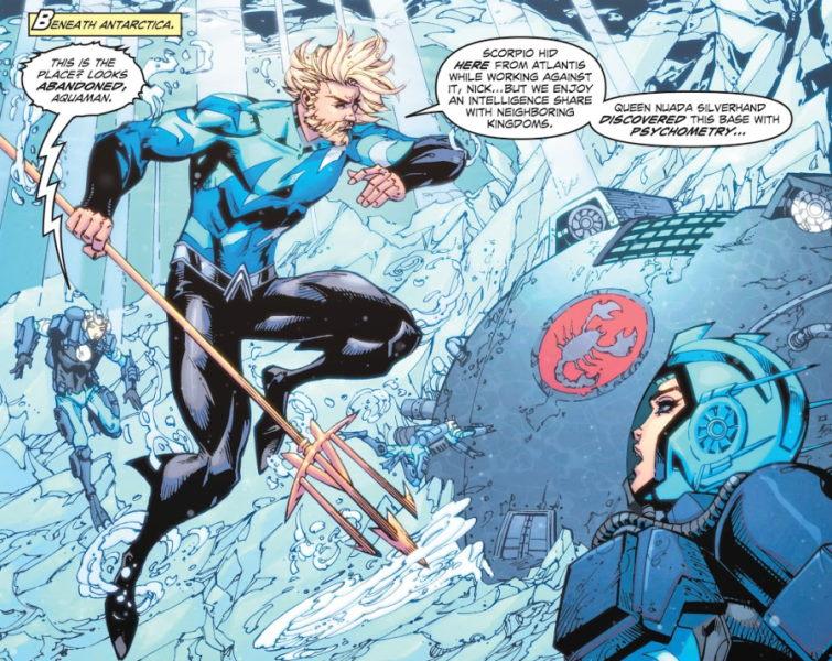 What is the origin of Aquaman's blue suit?