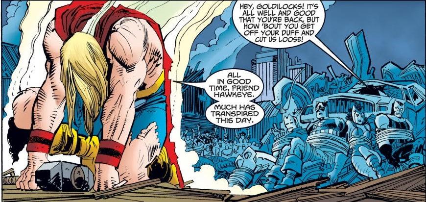 Dan Jurgens ayuda al Poderoso Thor en la Búsqueda de los Dioses