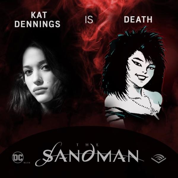 ¿Cómo fue que Kat Dennings logró el papel de Death en los audiolibros de The Sandman?